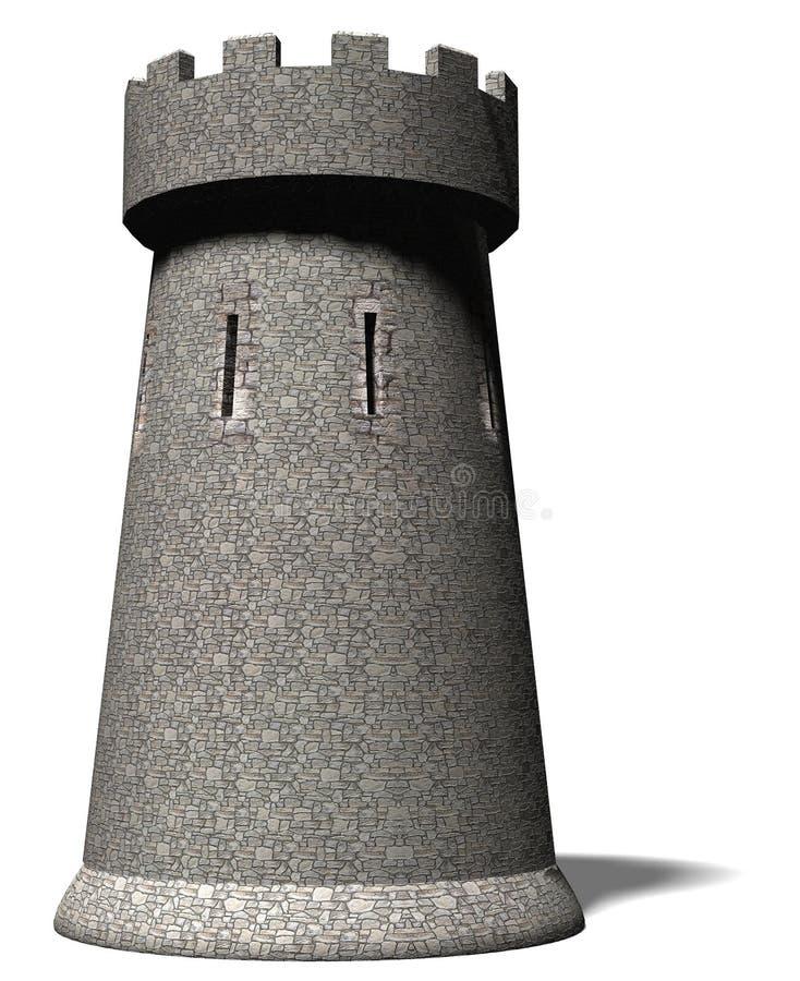 Een kasteeltoren royalty-vrije illustratie
