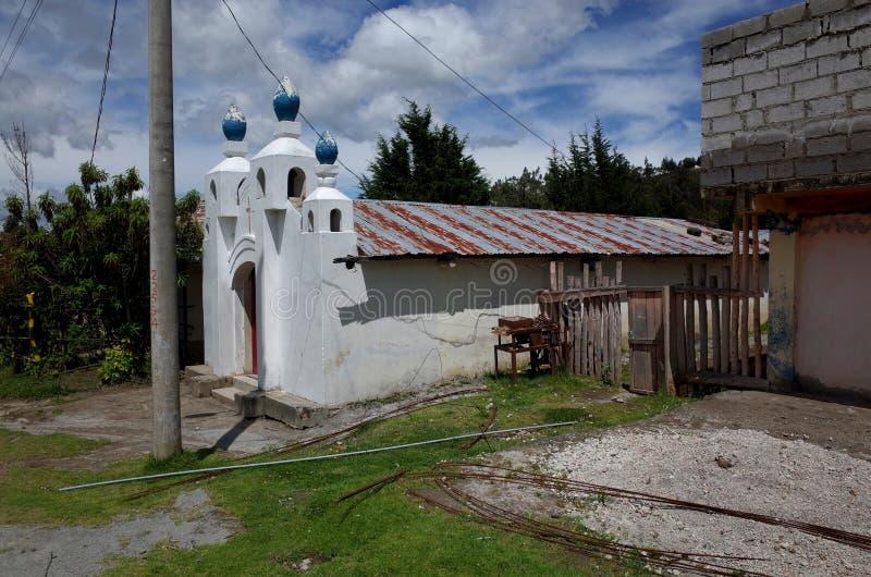 Een kerk in de stad van Guayama San Pedro stock fotografie