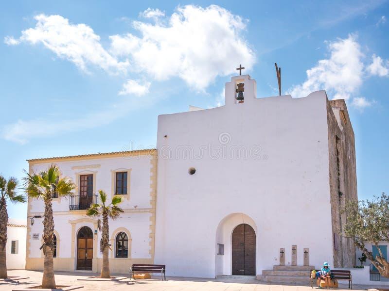 Een Kerk in Formentera royalty-vrije stock foto's