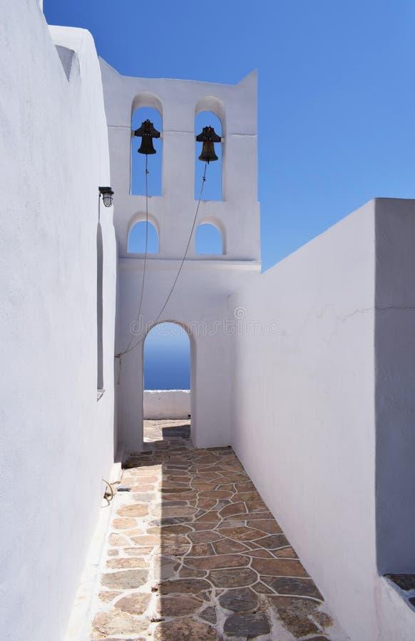 Een kerk op Sifnos-eiland royalty-vrije stock afbeelding