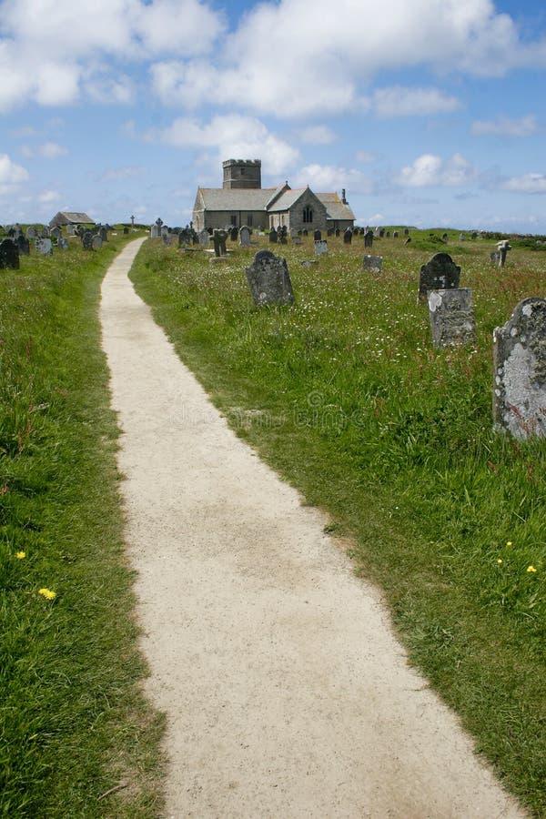 Een Kerk in Tintagel, Cornwall royalty-vrije stock foto