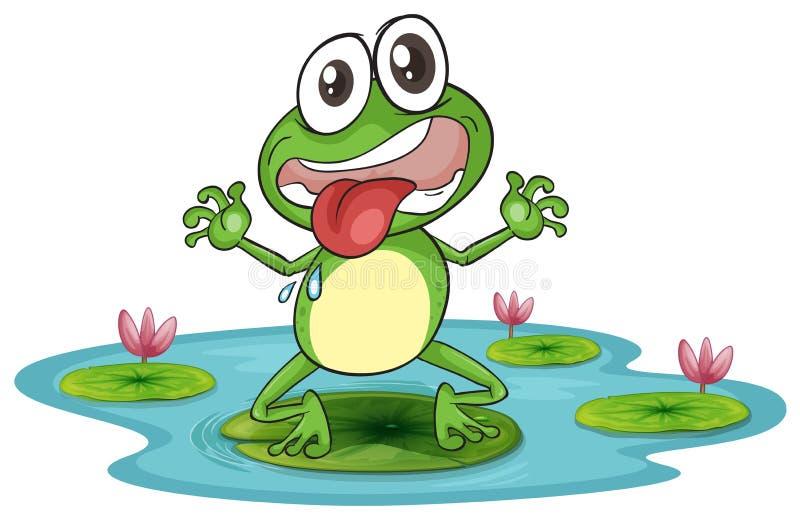 Een kikker en een water royalty-vrije illustratie