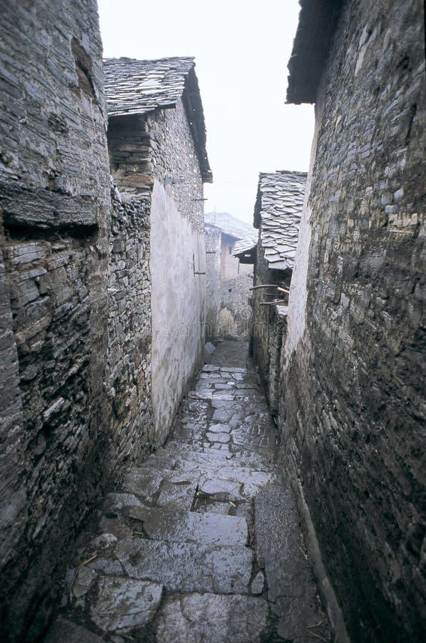 De wereld van de steen in West-China stock fotografie