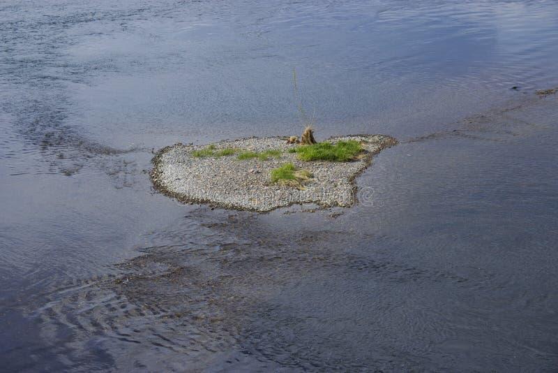 Een klein exotisch eiland stock afbeeldingen