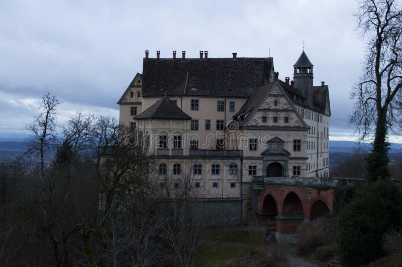 Een klein kasteel in een Duitse provincie royalty-vrije stock foto