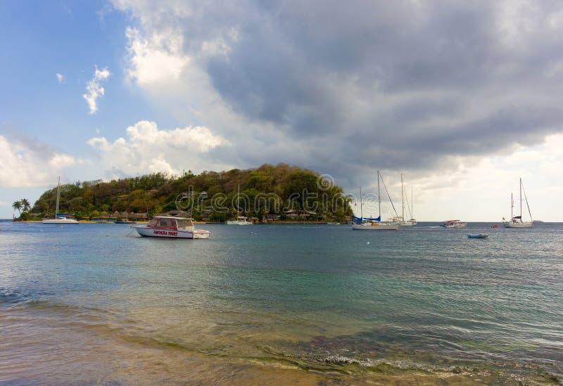 Een klein, privé toevluchthotel in de Caraïben royalty-vrije stock foto