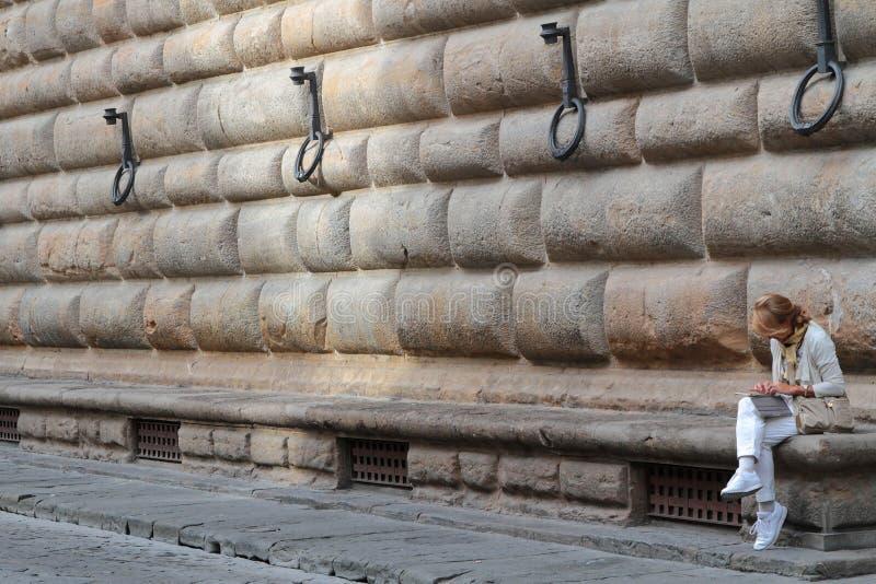 Een klein woord van Palazzo Strozzi royalty-vrije stock foto