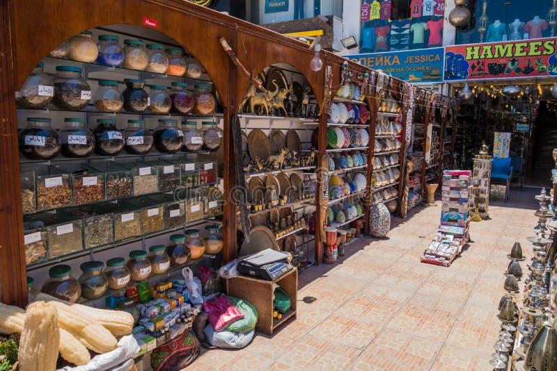 een kleine giftwinkel in Hurghada is leeg stock foto