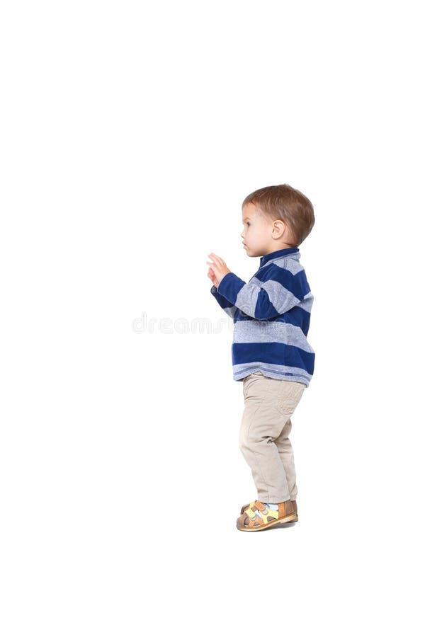 Een kleine jongen royalty-vrije stock afbeelding