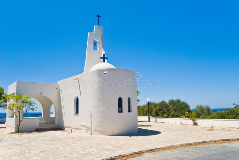 Een kleine Kerk in Griekenland royalty-vrije stock afbeelding