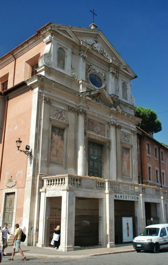 Een kleine Kerk in Rome royalty-vrije stock foto's
