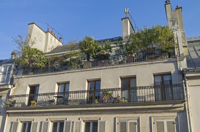 Een kleine tuin op het balkon royalty-vrije stock foto's