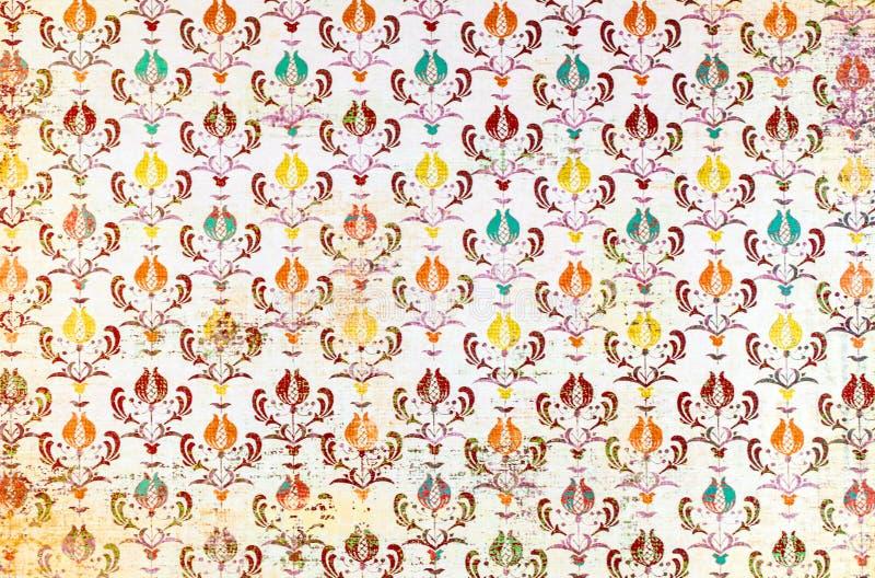 Een kleurrijk het damastbehang van het herhalingspatroon royalty-vrije stock afbeeldingen