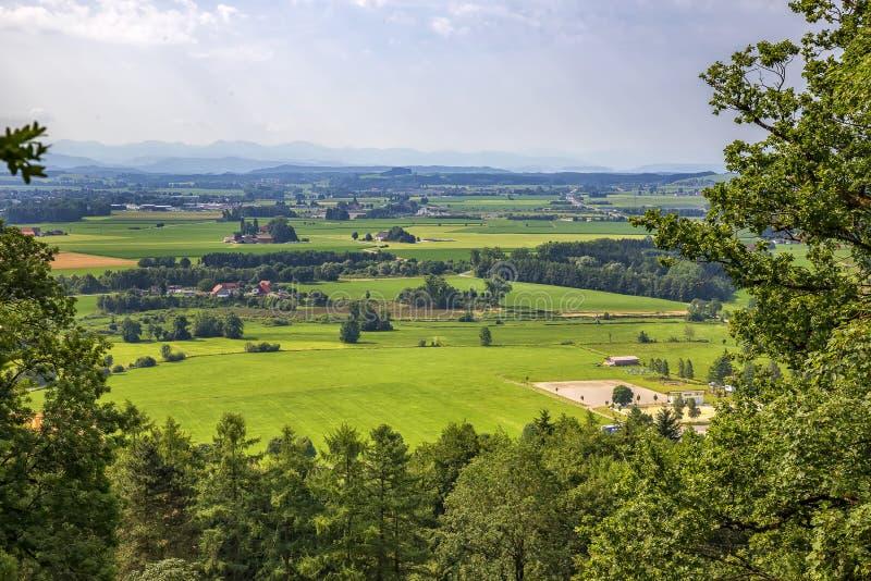 Een kleurrijk landschap in Baden-Wuertemmberg, Duitsland stock afbeeldingen