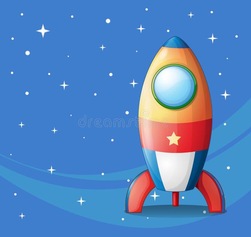 Een kleurrijk ruimteschip vector illustratie