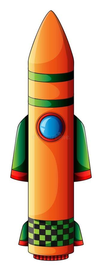 Een kleurrijke bom stock illustratie