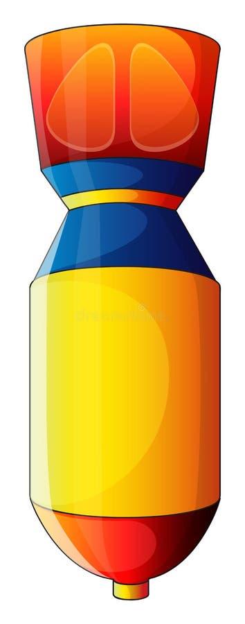 Een kleurrijke bom vector illustratie