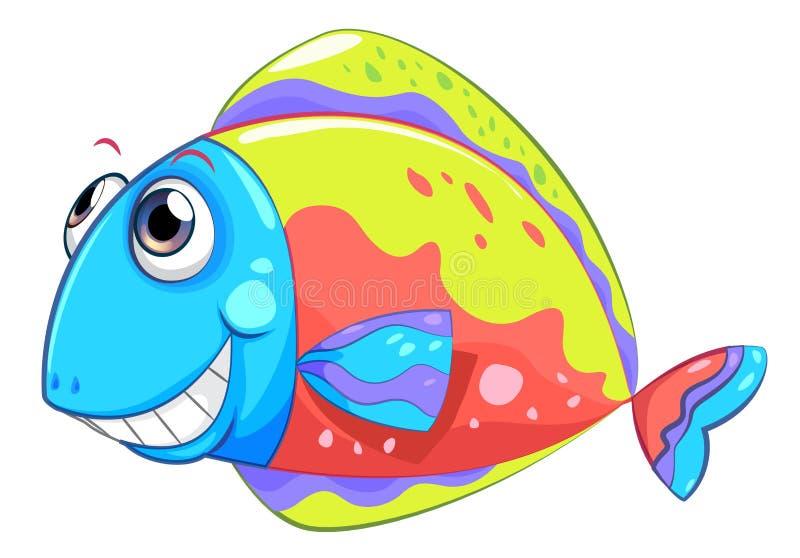 Een kleurrijke het glimlachen vis vector illustratie