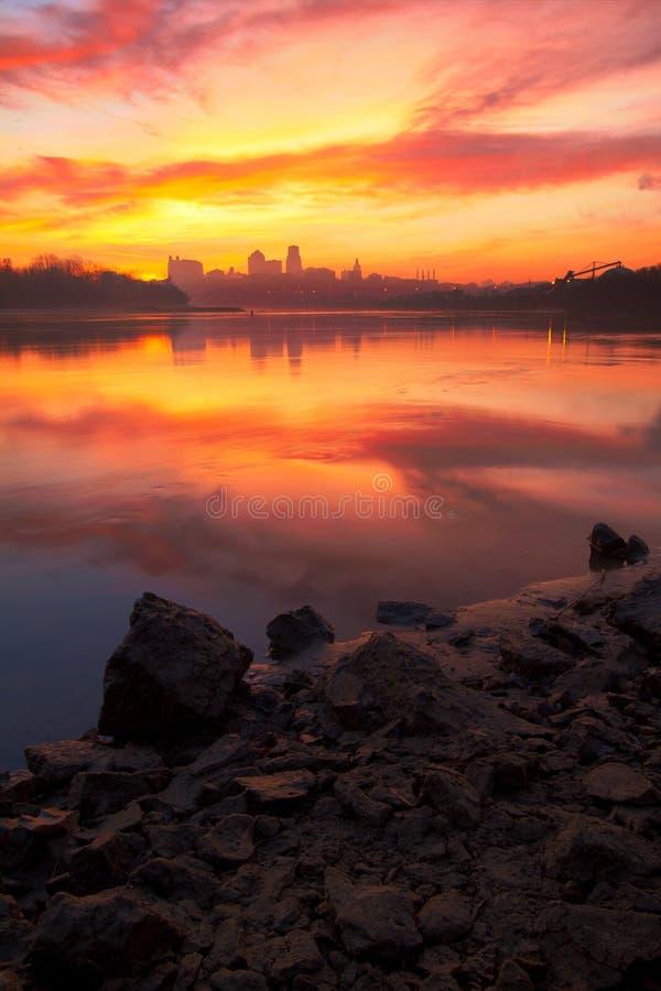 Een kleurrijke mening van de Stad van Kansas, Missouri royalty-vrije stock fotografie