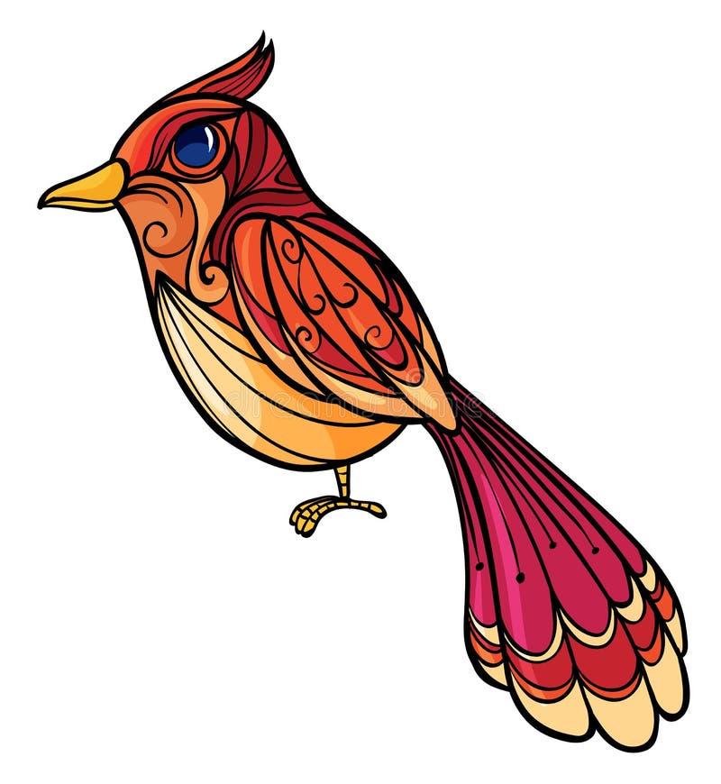 Een kleurrijke vogel stock illustratie