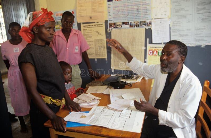Een kliniek in Oeganda stock foto's