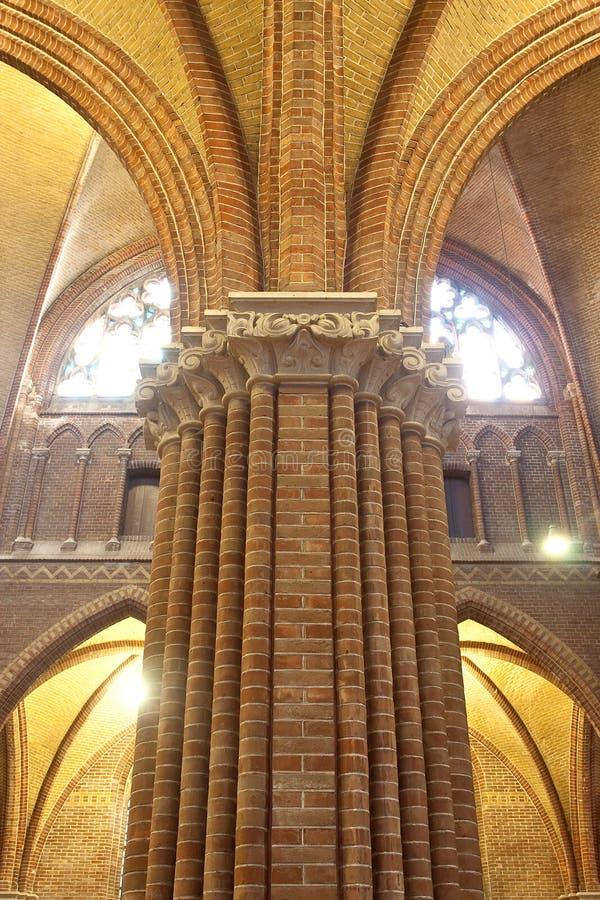 Een kolom of een abstract gezicht royalty-vrije stock afbeelding