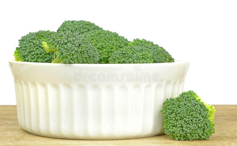 Een kom Broccoli stock afbeelding
