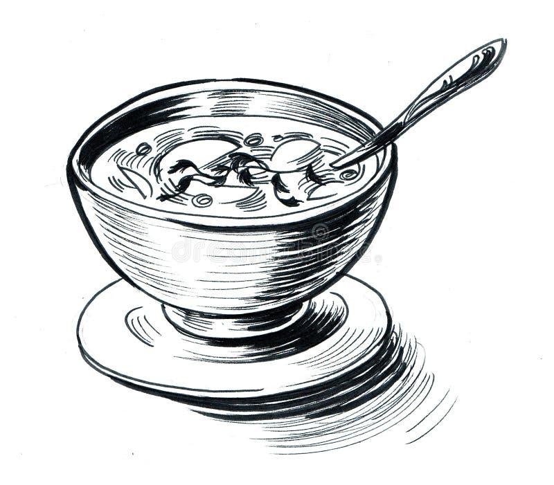 Een kom soep vector illustratie