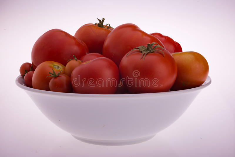 Een Kom van Tomaten stock foto