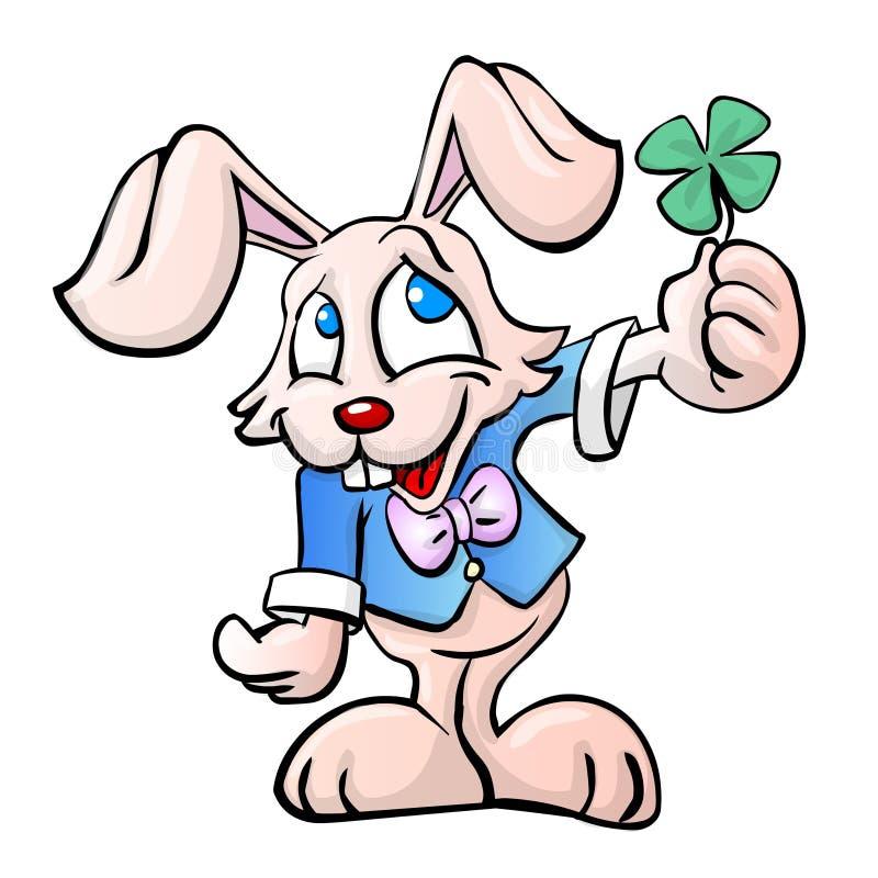 Een konijntje in kleur vector illustratie