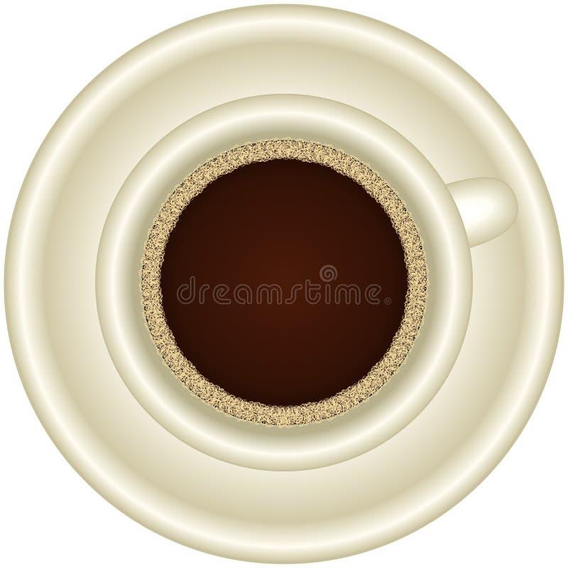 Een Kop van hete espresso met schuim stock fotografie