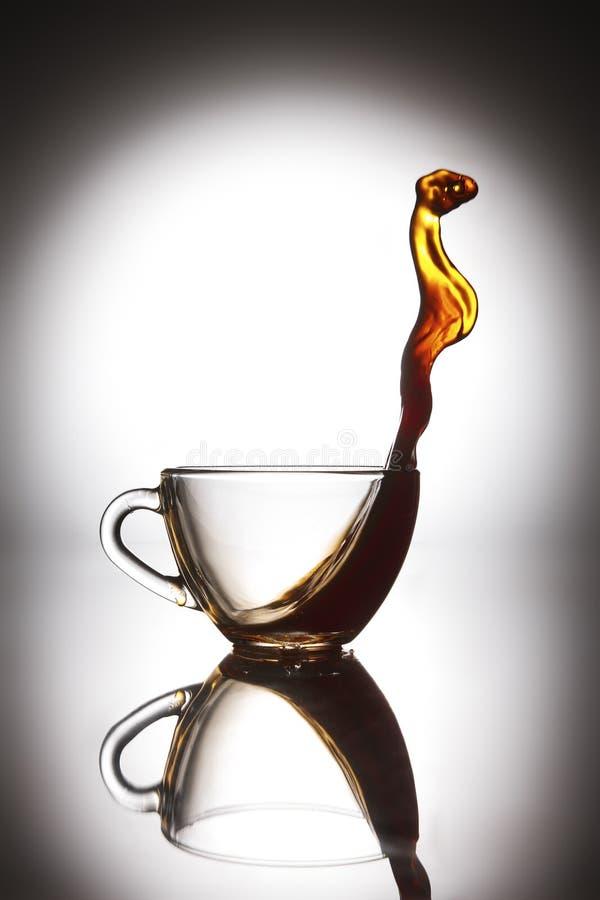 Een kop van hete zwarte koffie royalty-vrije stock foto's