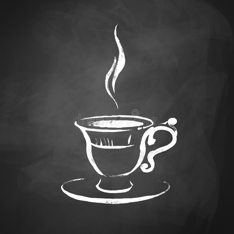 Een kop van koffie royalty-vrije illustratie