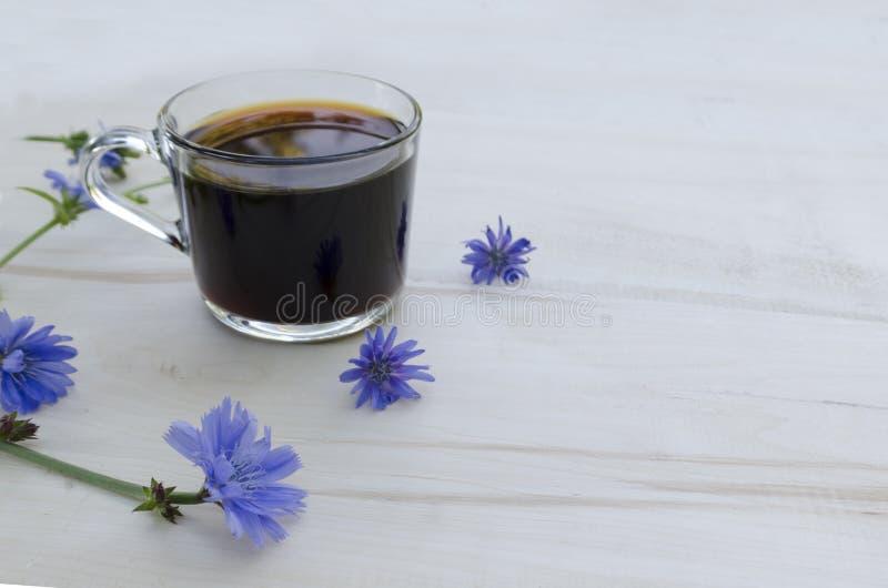 Een kop van witlof Stimulerende ochtenddrank stock afbeeldingen