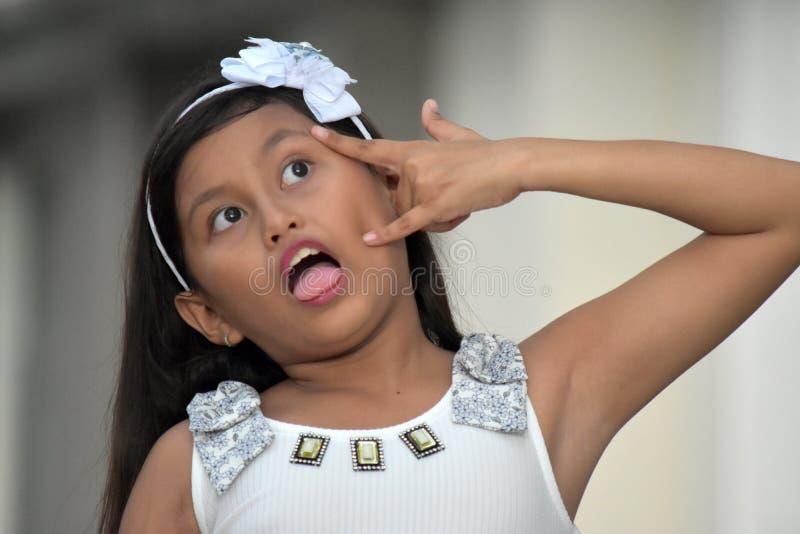 Een Krankzinnig Meisjeskind royalty-vrije stock foto