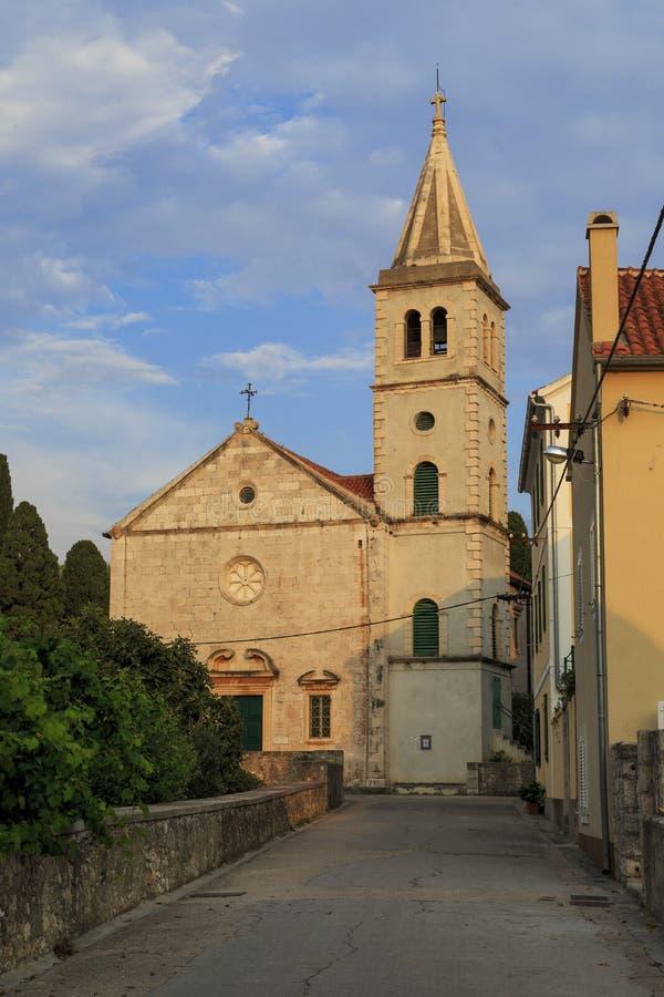 Een Kroatische kerk stock fotografie