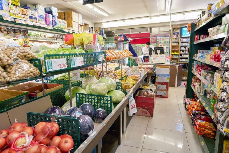 Een kruidenierswinkelopslag royalty-vrije stock afbeelding