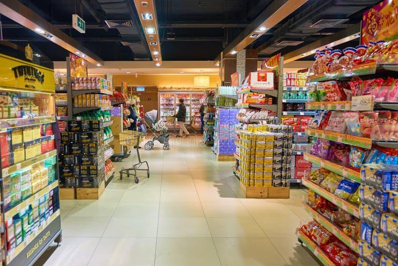 Een kruidenierswinkelopslag royalty-vrije stock foto's