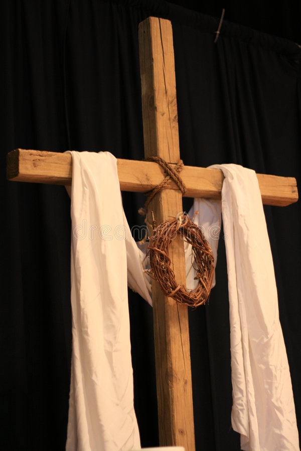 Een kruis van Pasen stock fotografie