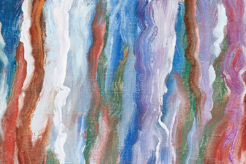 Een kunstverwezenlijking Abstracte kunstachtergrond Eigentijds art. Kleurrijke golven Een olieverfschilderij voor uw reclame Mode royalty-vrije illustratie