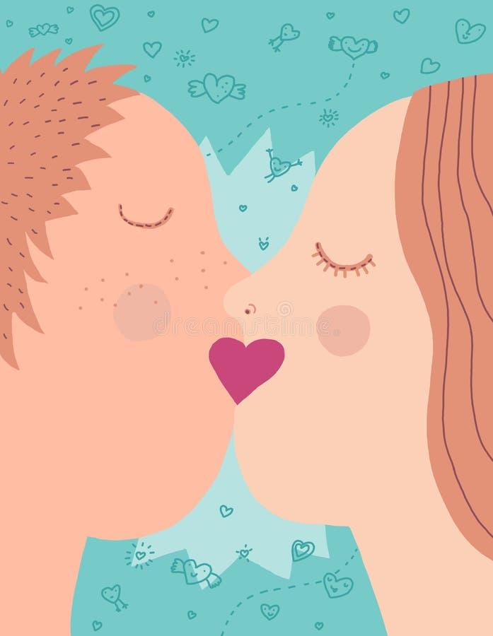 Een kus royalty-vrije illustratie