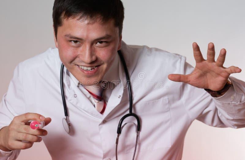 Een kwade arts stock foto
