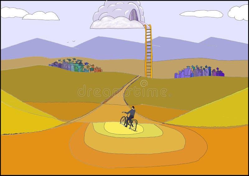 Een ladder aan de hemel stock illustratie