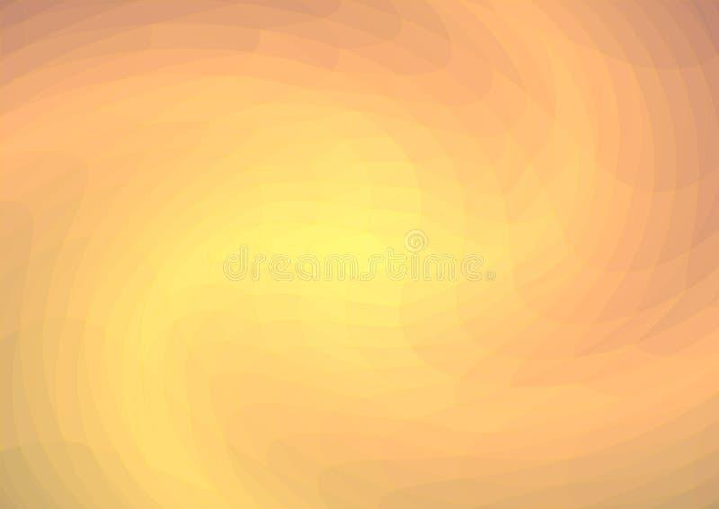 Een lage poly lichtoranje abstracte achtergrond die op de het toenemen zon of op de geboorte van een supernova, een melkweg lijke vector illustratie
