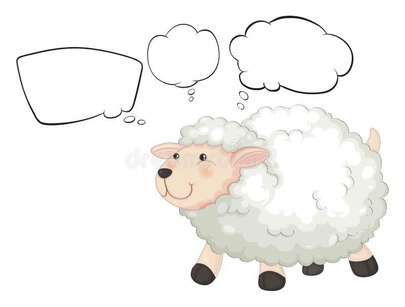 Een lam met lege gedachten stock illustratie