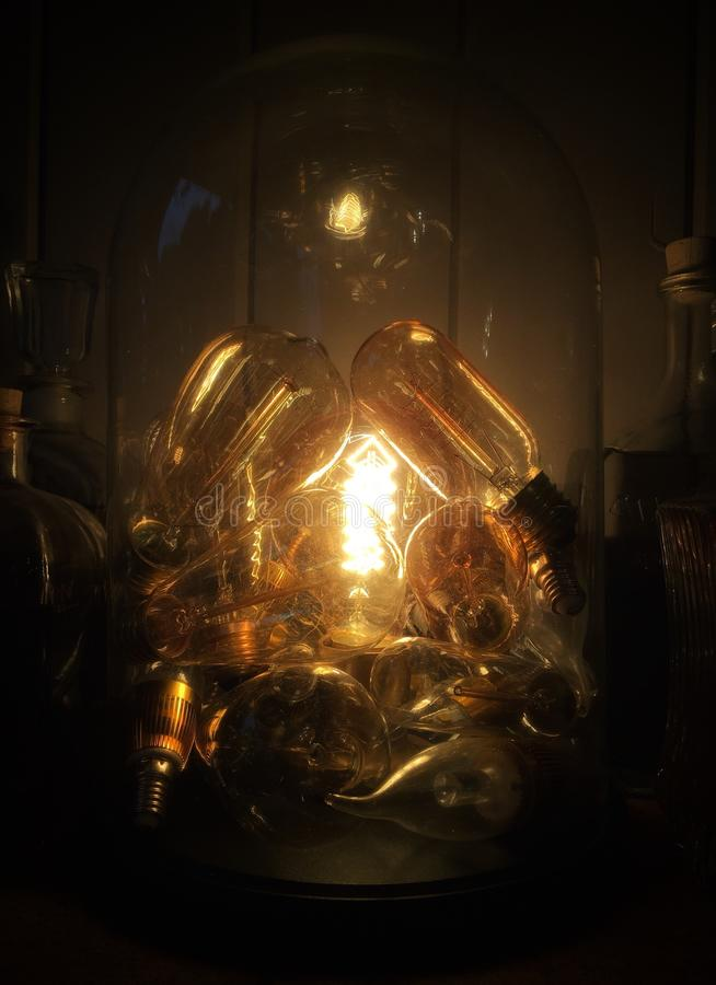 Een lamplicht royalty-vrije stock fotografie