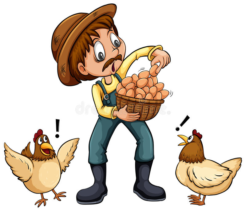 Een landbouwer stock illustratie