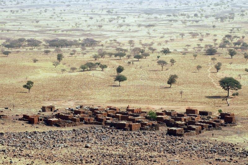 Een landelijk dorp in Mali stock foto