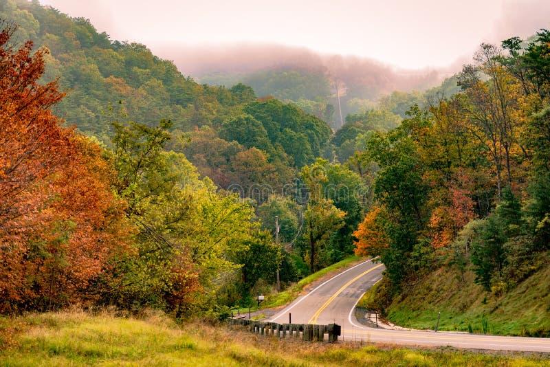 Een landelijke weg in Virginia stock foto's