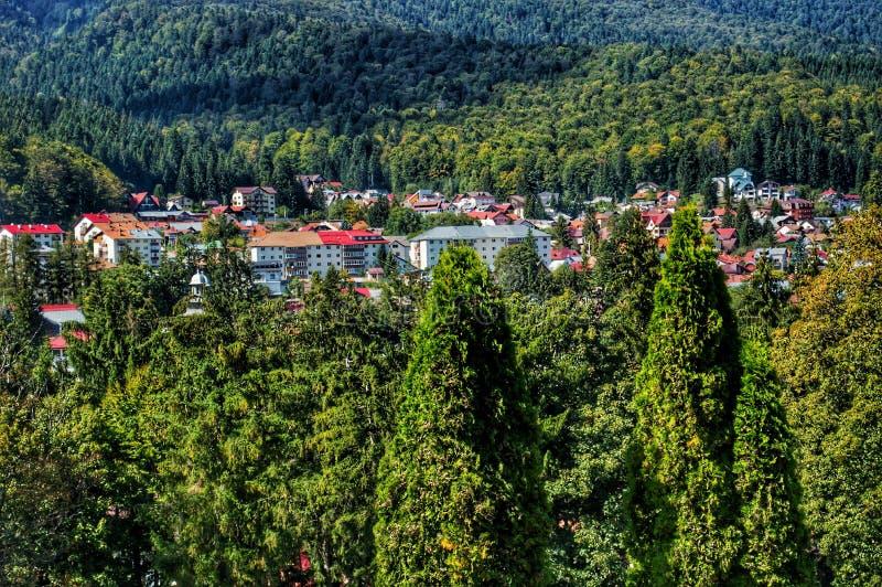 Een Landschap van a-stad in Europa stock afbeelding